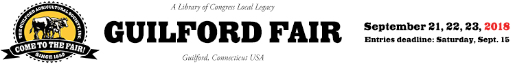 Welcome to The Guilford Fair!   ::  September 21, 22, 23, 2018 Logo