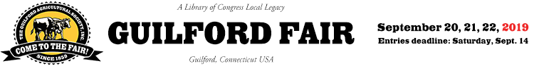 Welcome to The Guilford Fair!   ::  September 20, 21, 22, 2019 Logo
