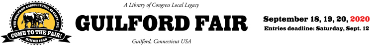 Welcome to The Guilford Fair!   ::  September 18, 19, 20, 2020 Logo