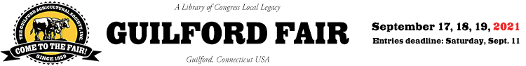 Welcome to The Guilford Fair!   ::  September 17, 18, 19, 2021 Logo