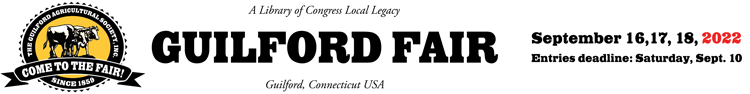 Welcome to The Guilford Fair!   ::  September 16, 17, 18, 2022 Logo